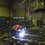 Keijo Olkoniemi welding with Kemppi welding equipment