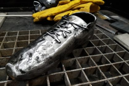 Welded football boot by Alexander Kontorin