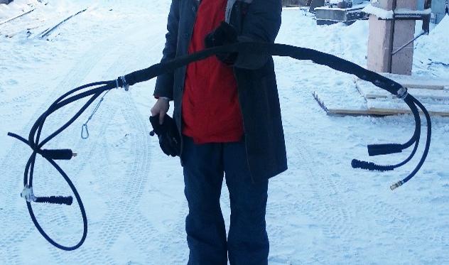 MIG/MAG-välikaapeli Siperiassa
