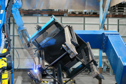Robotic welding of a workpiece requires seamless collaboration