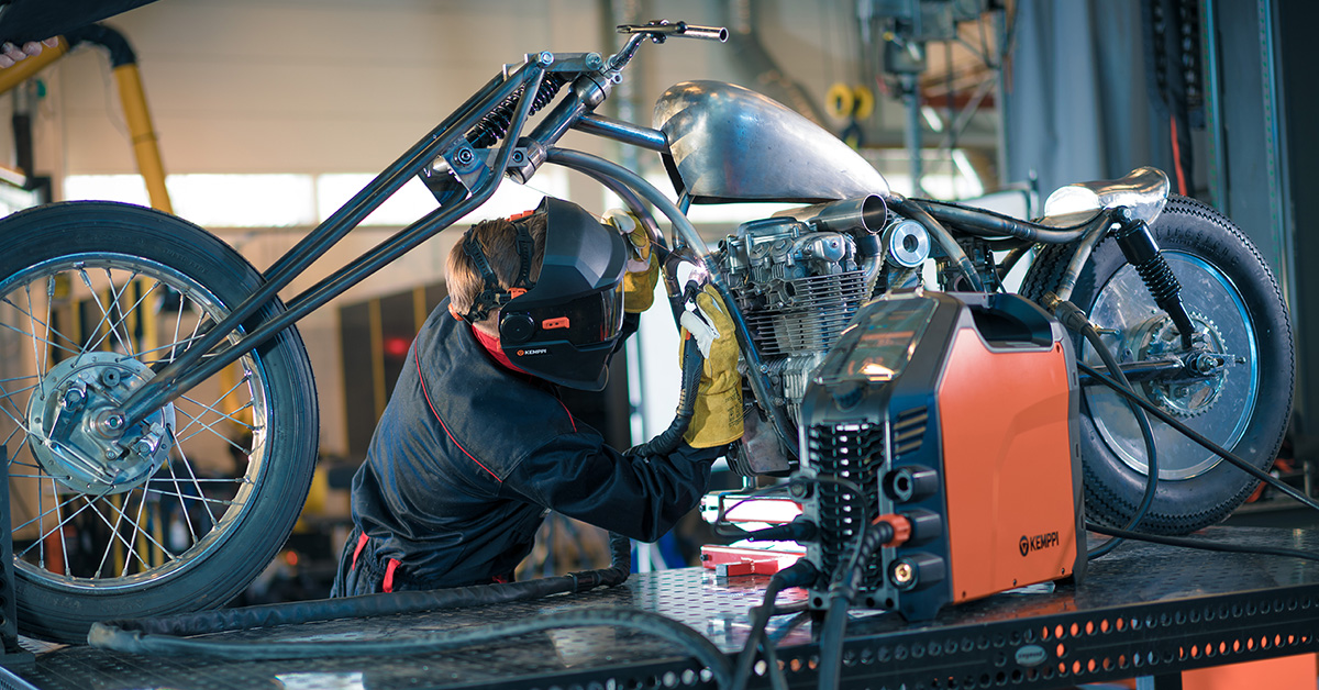 Welding Education Comes in Handy in Motorcycle Building
